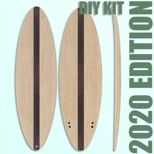 "THE EGG - 2020 EDITION </br>[6'x21"" 40L]</br>Laser Cut Wooden Surfboard Kit 1"