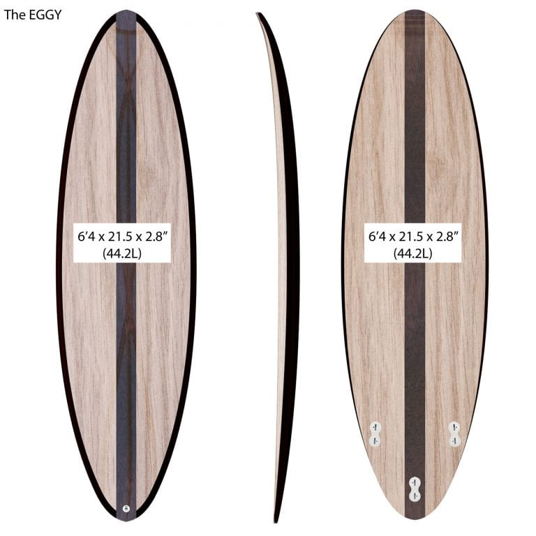 "THE EGG - 2020 EDITION </br>[6'x21"" 40L]</br>Laser Cut Wooden Surfboard Kit 7"