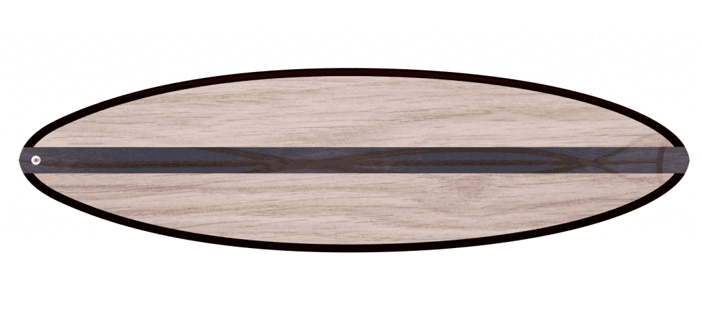 "THE EGG - 2020 EDITION </br>[6'x21"" 40L]</br>Laser Cut Wooden Surfboard Kit 8"