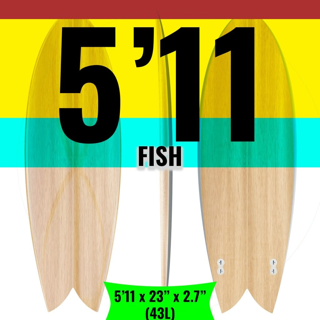 DIY Surfboard Kit for 5'11 fish
