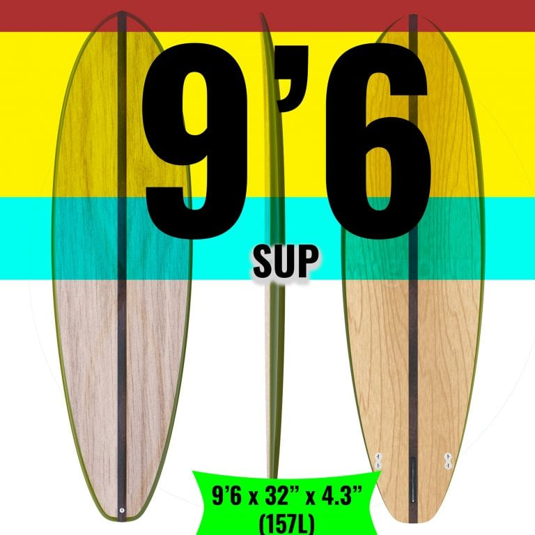 """9'6 x 32"""" SUP Kit (154L) - DIY Wooden SUP Kit </BR> All Rounder (CUSTOM SHIPPING 1"""