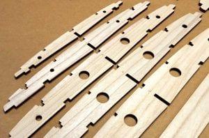 CNC wooden surfboard frame