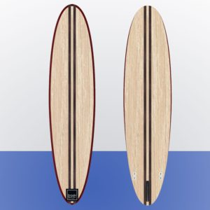 wooden minimal surfboard kit