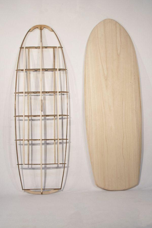 """2019 MINI SIMMONS</br>[5'5x23"""" 41L]</br>Laser Cut Wooden Surfboard Kit 2"""