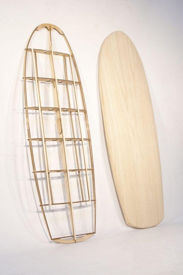 """2019 MINI SIMMONS</br>[5'5x23"""" 41L]</br>Laser Cut Wooden Surfboard Kit 4"""