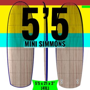 Mini Simmons Wooden Surfboard Kit