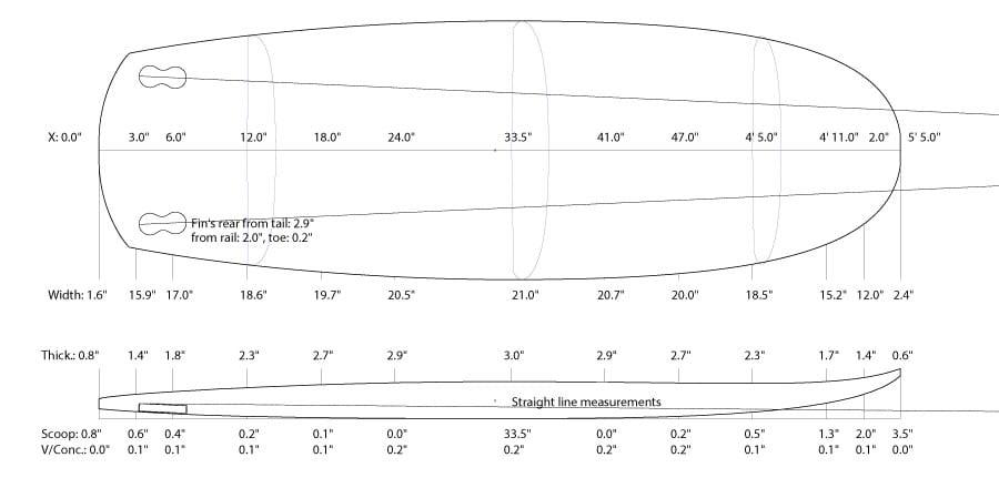 """2019 MINI SIMMONS</br>[5'5x23"""" 41L]</br>Laser Cut Wooden Surfboard Kit 8"""