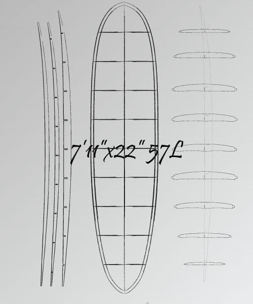 7'11 wooden mini mal plans
