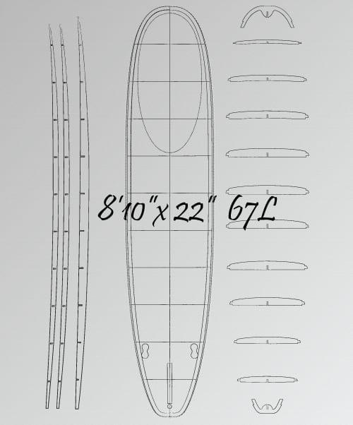 "8'10 x 22"" Longboard </br>[2019] 2"