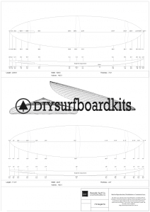 7'4 retro single fin hollow core wooden surfboard plans