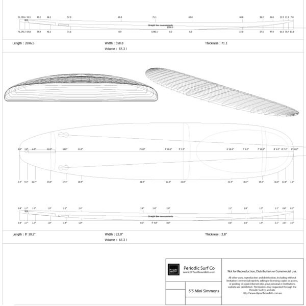 8-10-longboard hollow core wooden surfboard plans