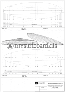 9'6 Stand Up Paddle Board Template Set