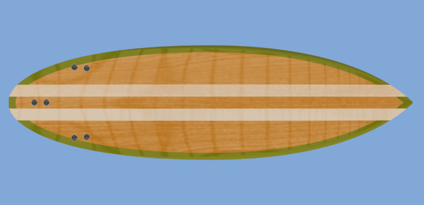 hollow core wooden surfboard plans