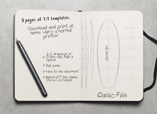 wooden fish surfboard plans