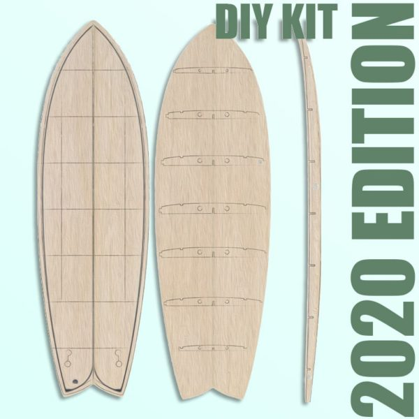 2020 Periodic Fish </br>[5'6 | 5'9 | 5'11]</br>Laser Cut Wooden Surfboard Kit 1