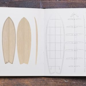 5'9 Fish - wooden surfboard kit
