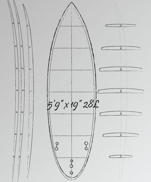 5'9 wooden surfboard plans