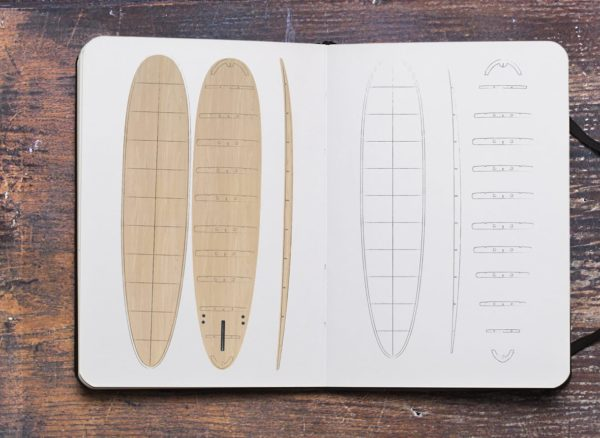 2020 Periodic Longboard </br>[8'6 | 9'2 | 9'6] </br>Laser Cut Wooden Surfboard Kit 6