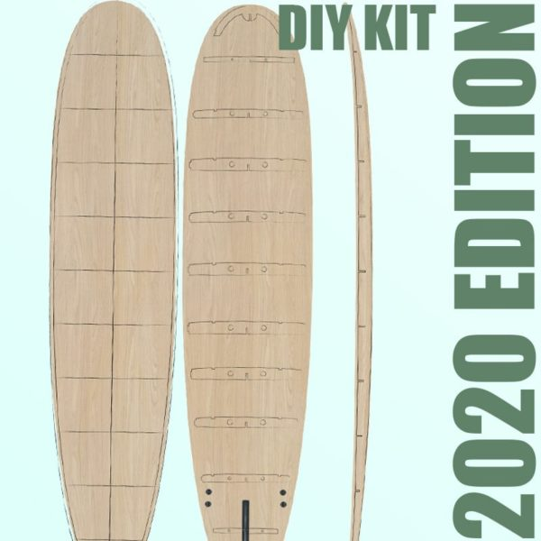 2020 Periodic Longboard </br>[8'6 | 9'2 | 9'6] </br>Laser Cut Wooden Surfboard Kit 1