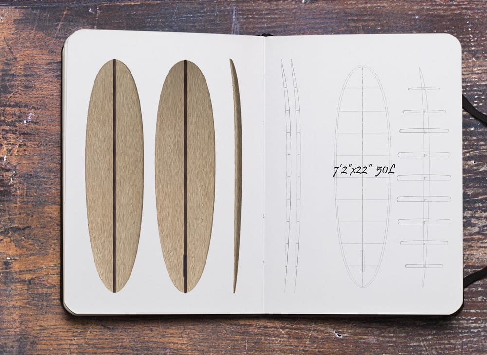 "2020 EGGY MAL</br>[7'2 x 22""] </br>Laser Cut Wooden Surfboard Kit 5"