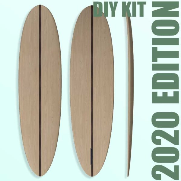 "2020 EGGY MAL</br>[7'2 x 22""] </br>Laser Cut Wooden Surfboard Kit 1"