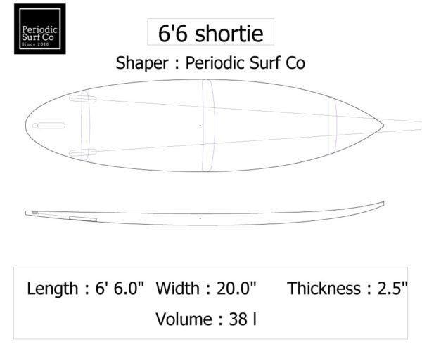 6'6 Short Board [2020] 2
