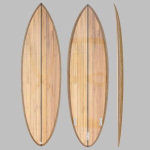 6'5 wooden surfboard kit