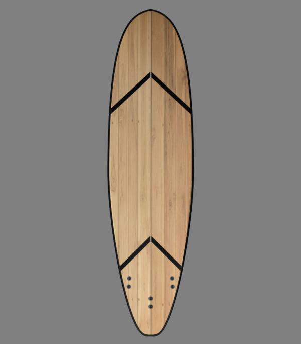 funboard wooden surfboard kit